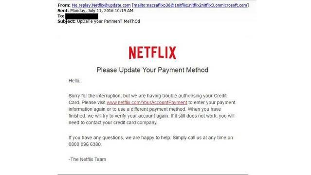 Nextflix Phishing Scam