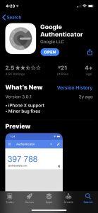 Google multi-factor authenticator app